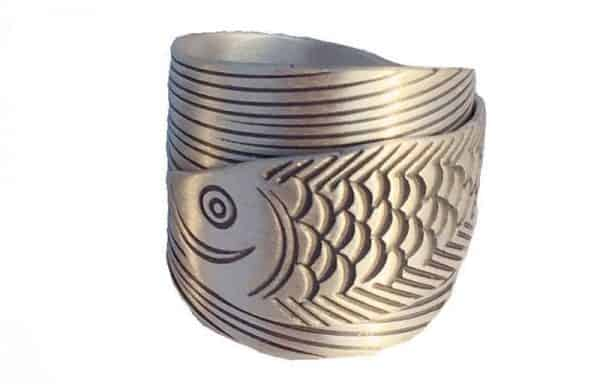 Nhẫn Cá Rồng Phong Thủy Bạc S999 Cao Cấp (Bạc Ta)