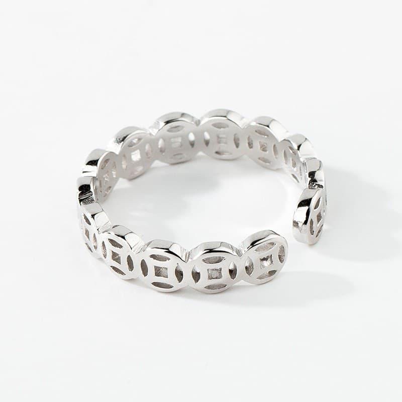 nhẫn kim tiền bạc 925