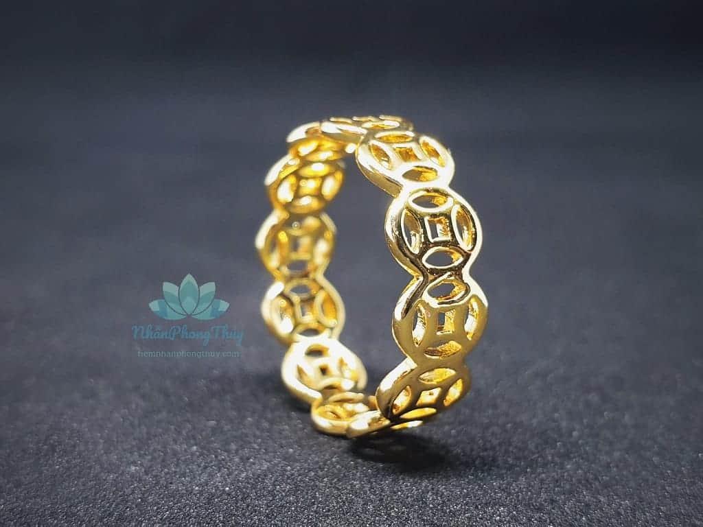 nhẫn kim tiền vàng 18k giá rẻ