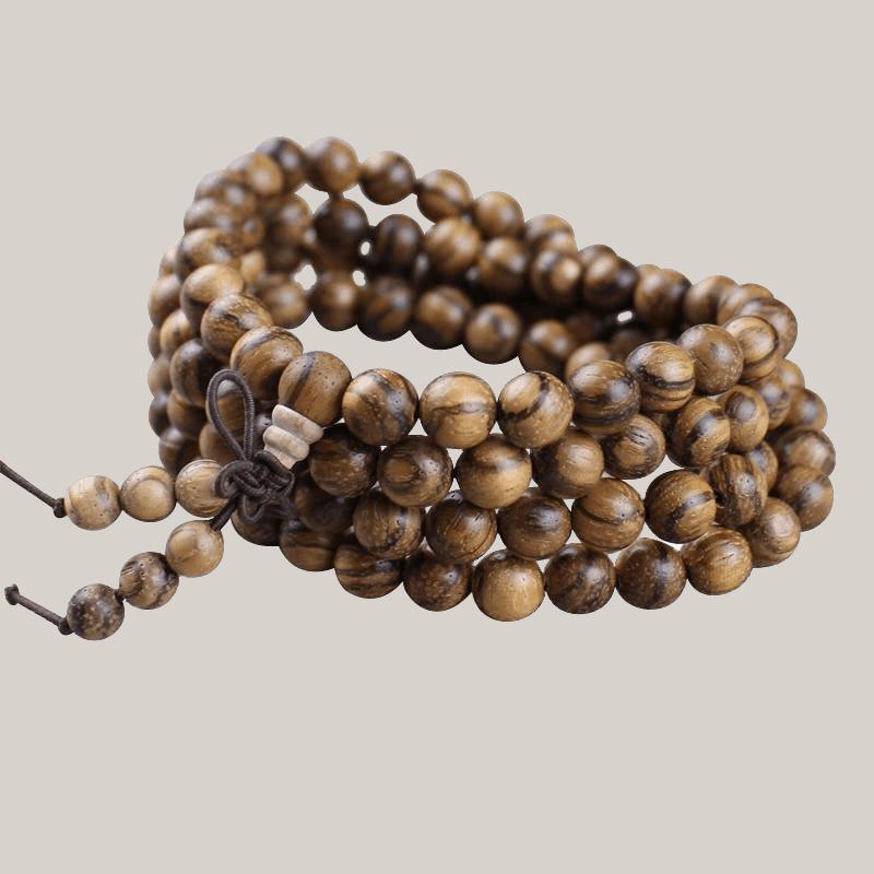 vòng tay gỗ trầm hương 108 hạt ý nghĩa
