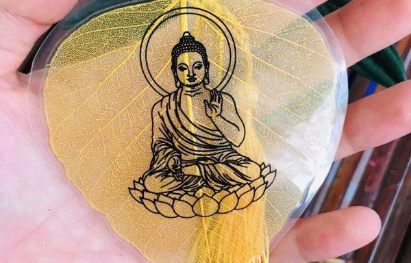 Lá Bồ Đề Tâm Phật Có Hình Phật (Lá Bồ Đề Đẹp – Loại 1)