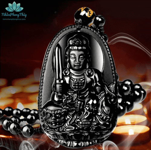 mặt dây chuyền Phật bản mệnh Văn Thù Bồ Tát